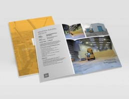 3b construction brochure design