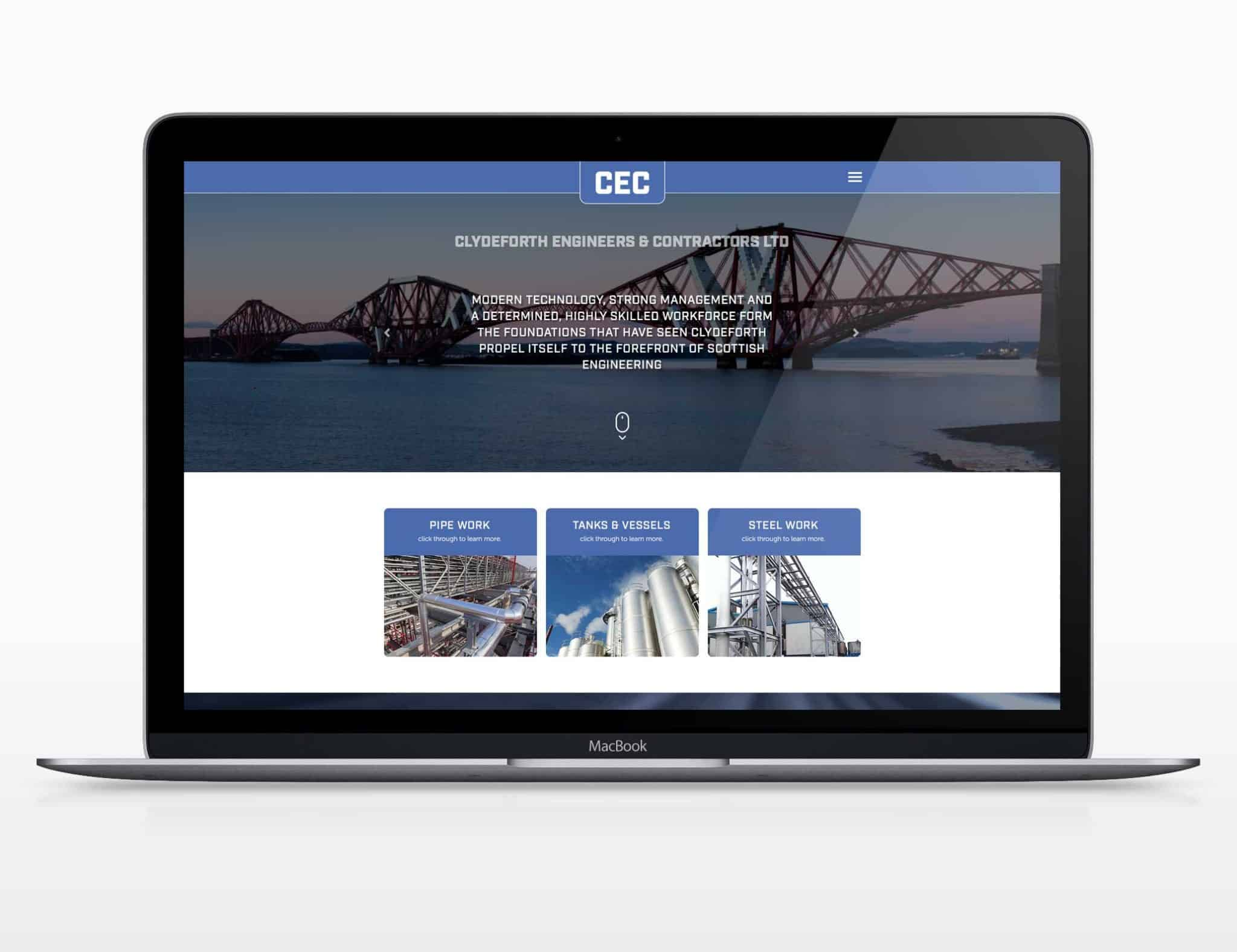 clydeforth engineering website design