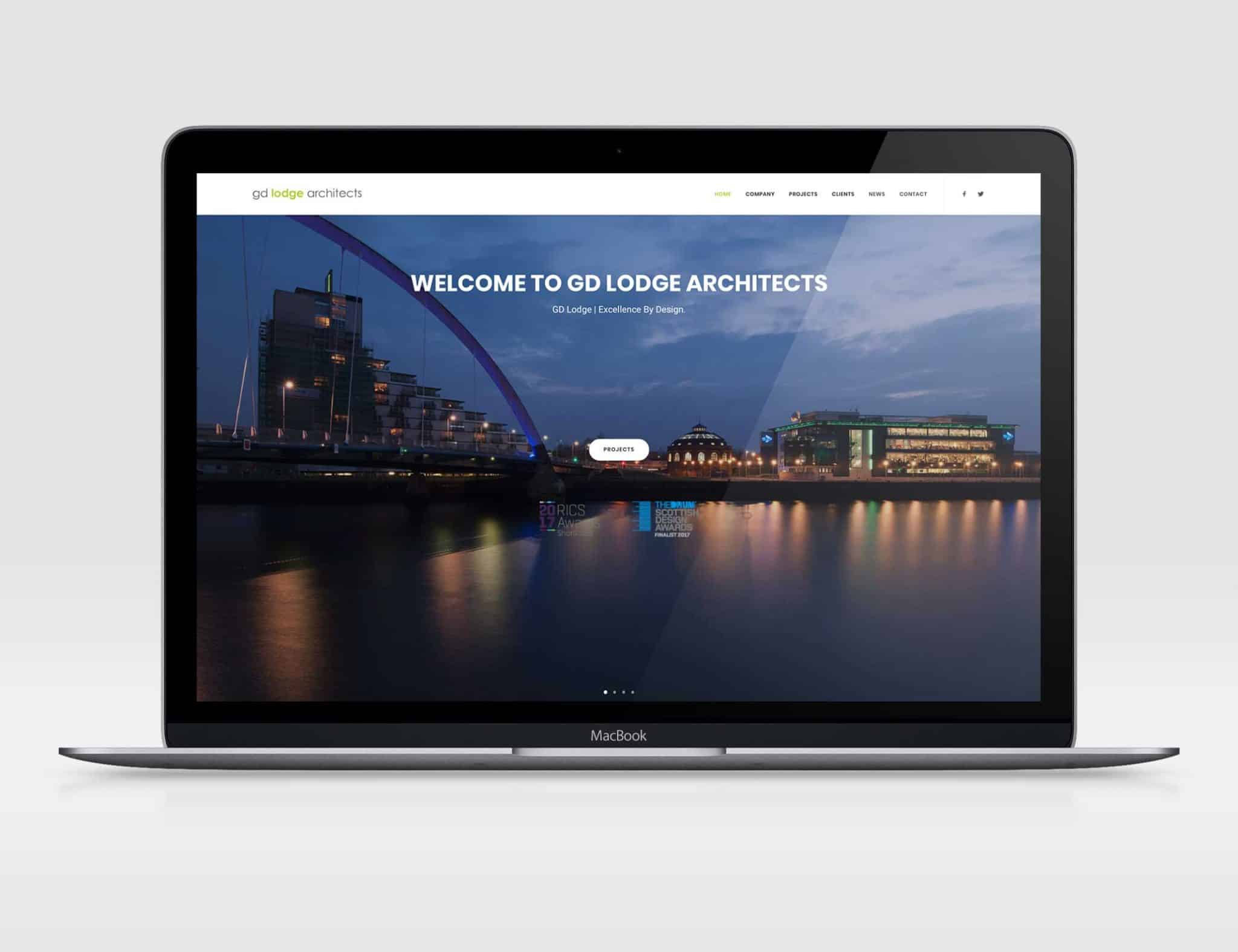 gd lodge architects website design