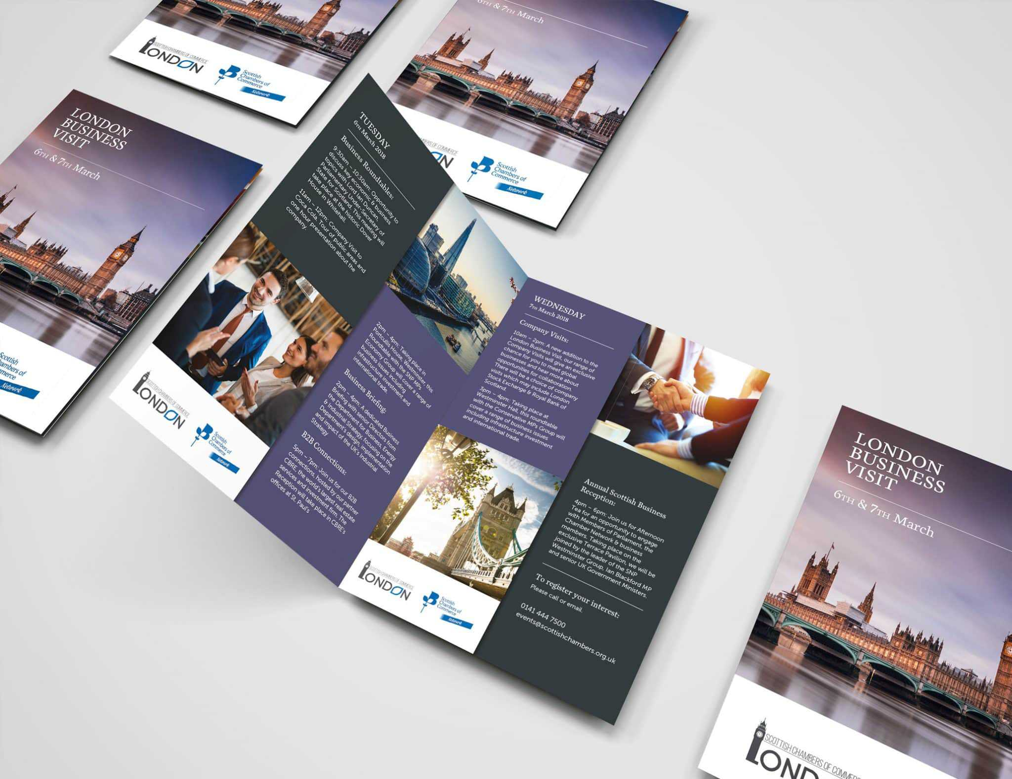 Scottish Chambers Leaflet Design